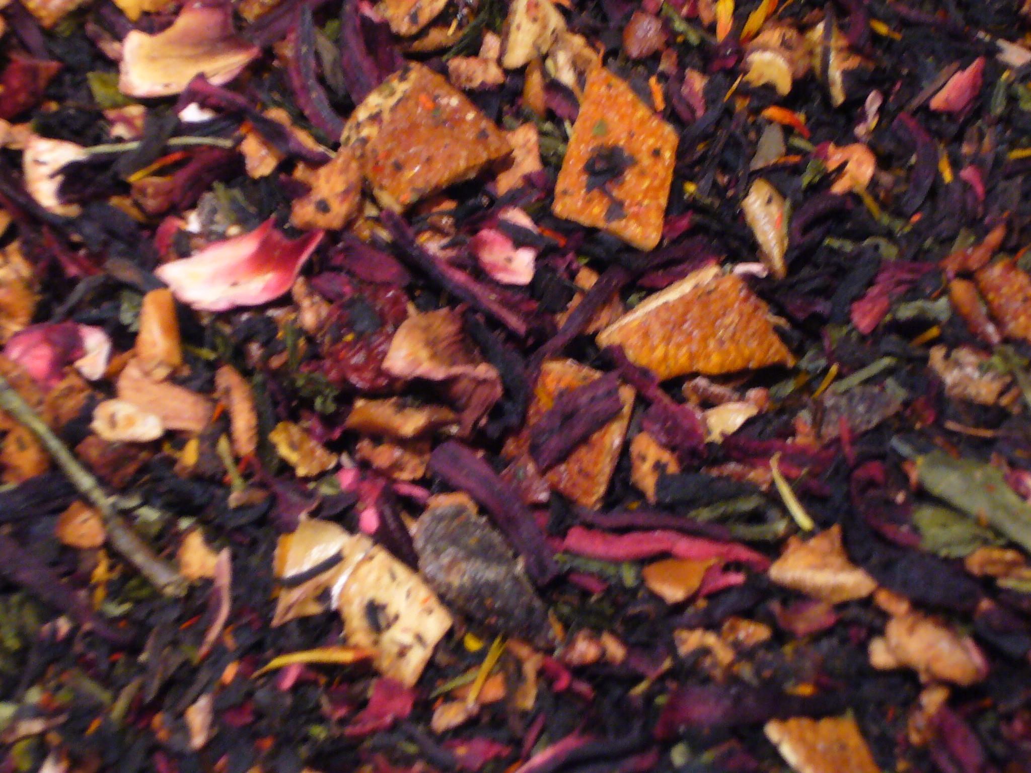 Eistee Pfirsich Früchtetee/Schwarzer Tee