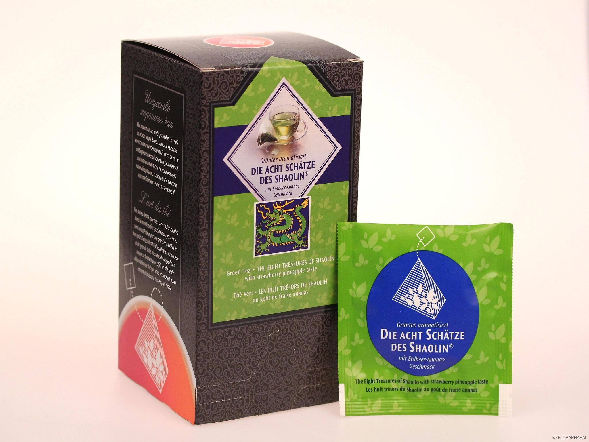 Tee-Pyramidenbeutel Die Acht Schätze des Shaolin® Grüner Tee