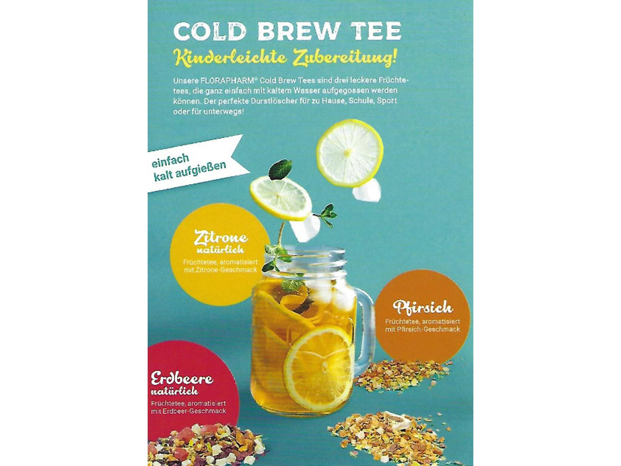 """Kaltaufguss """"Cold Brew"""" Zitrone natürlich,Früchtetee"""