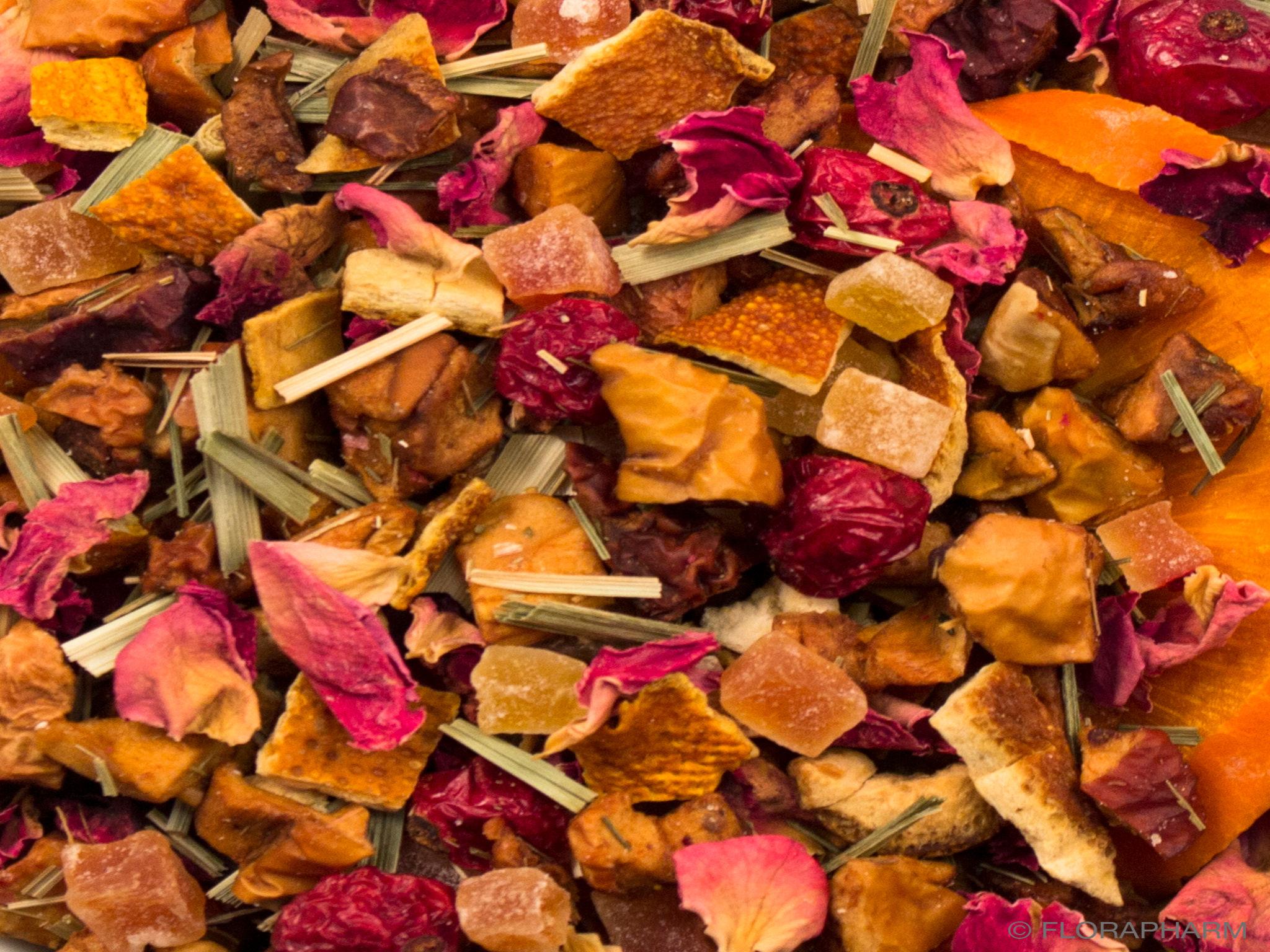 Persimone Pfirsich Früchtetee mild