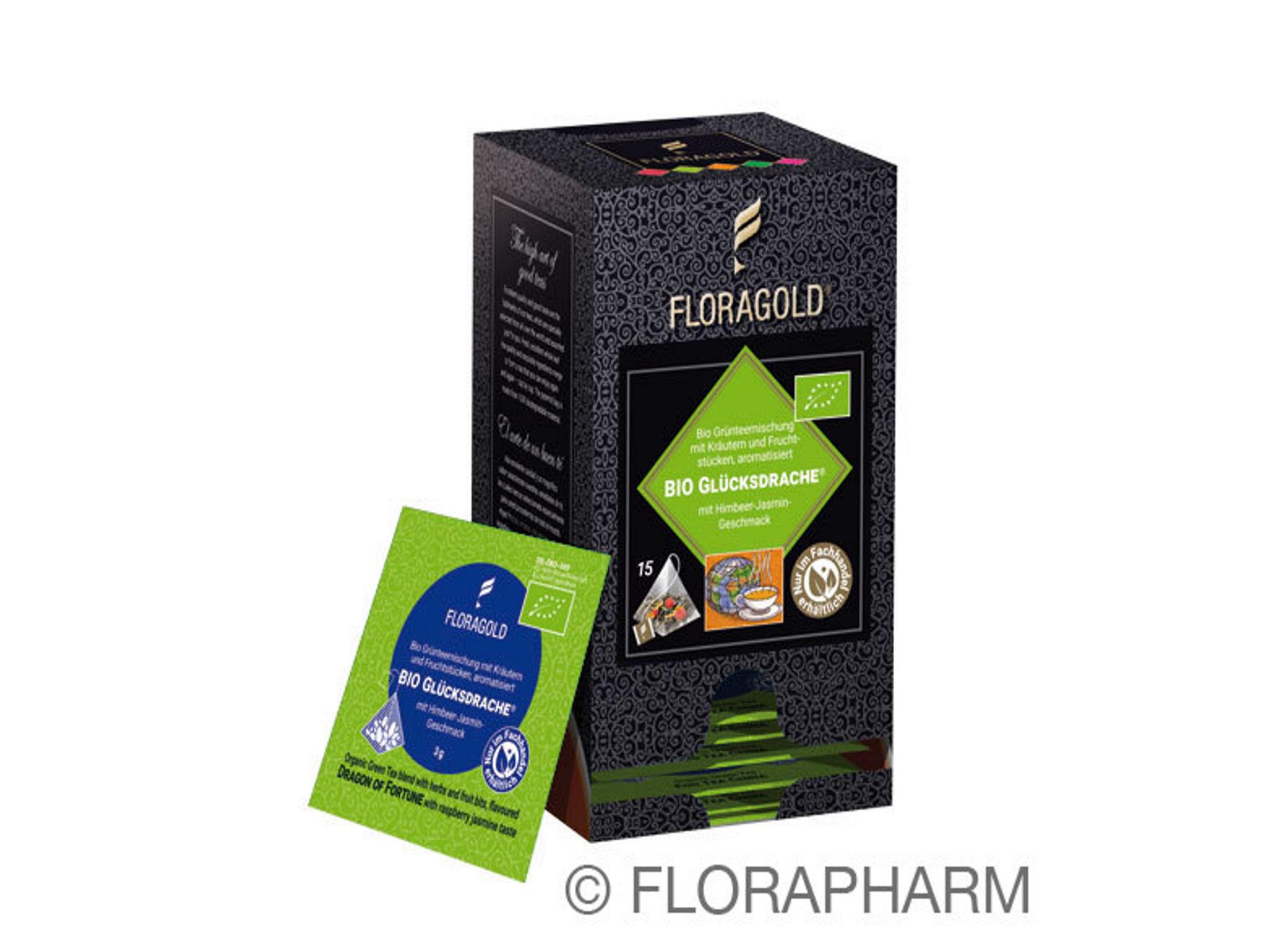Tee-Pyramidenbeutel Bio Glücksdrache® Grüner Tee