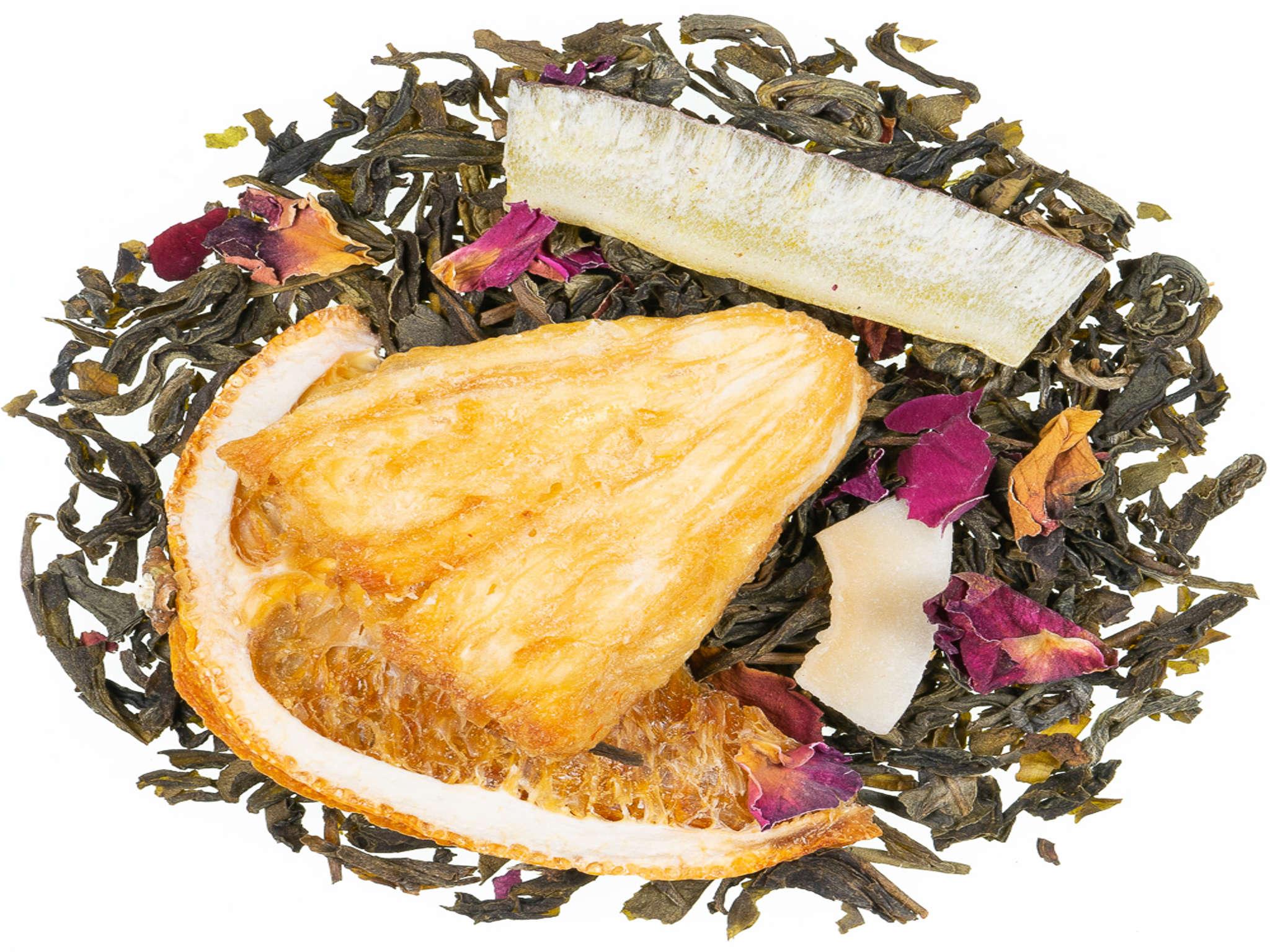 Mandarine Kokos, Grüner Tee