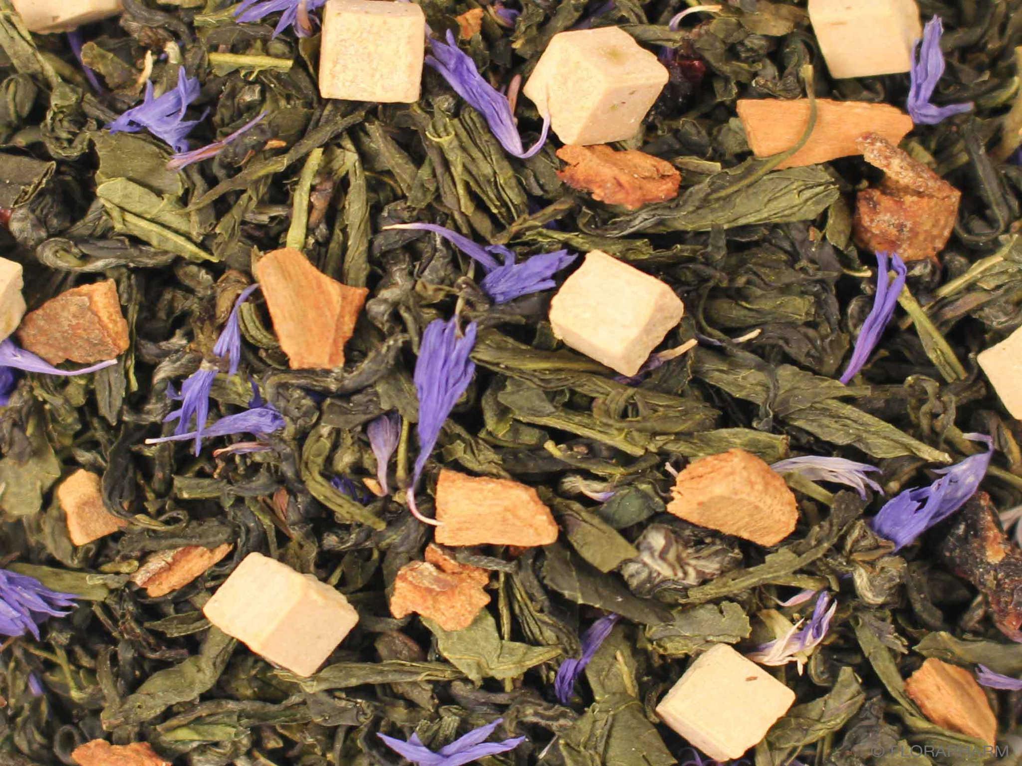 Pflaumengarten, Grüner Tee