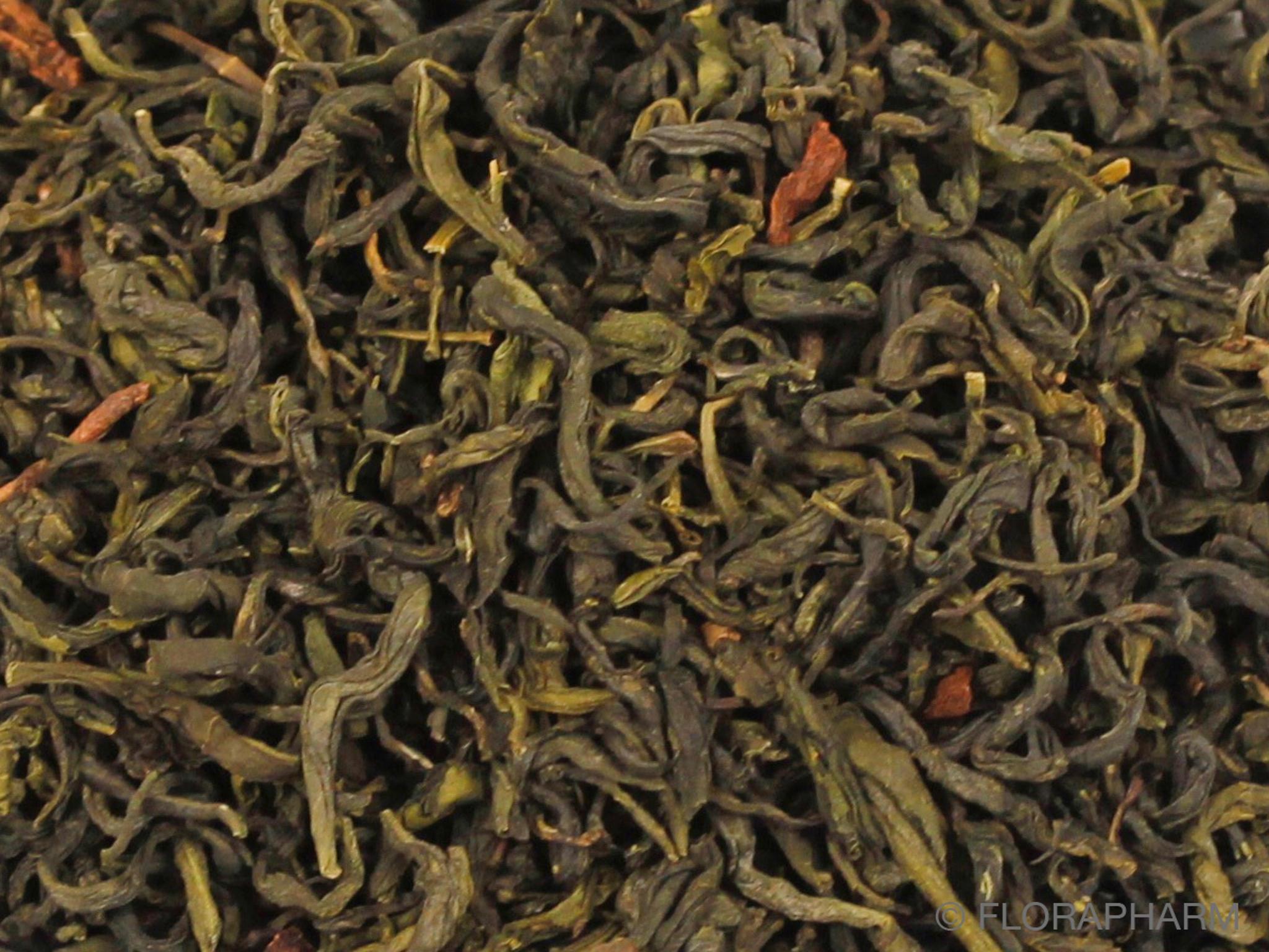 Crème  Brulee, grüner Tee