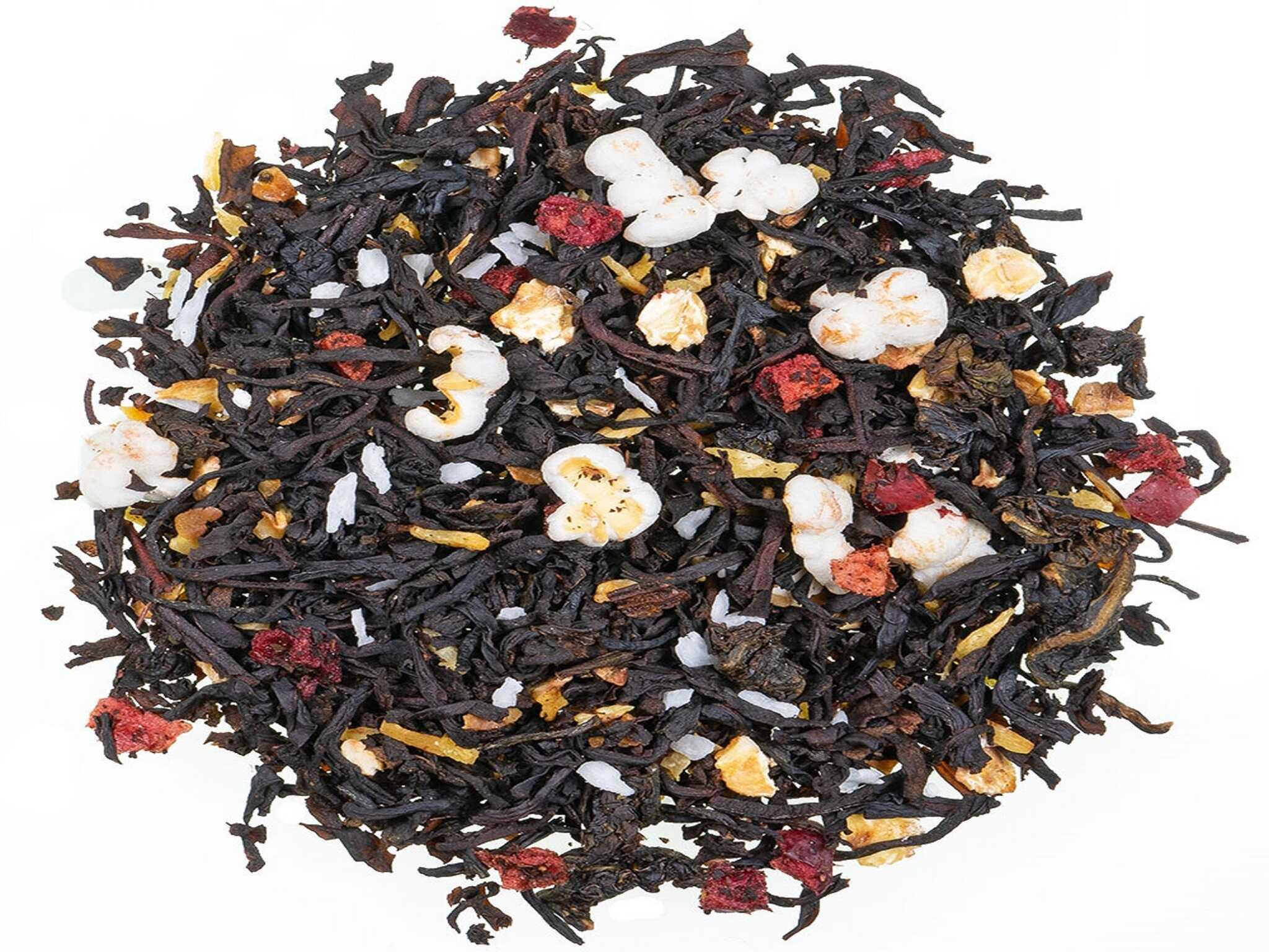 Cranberry Milchreis, schwarzer Tee