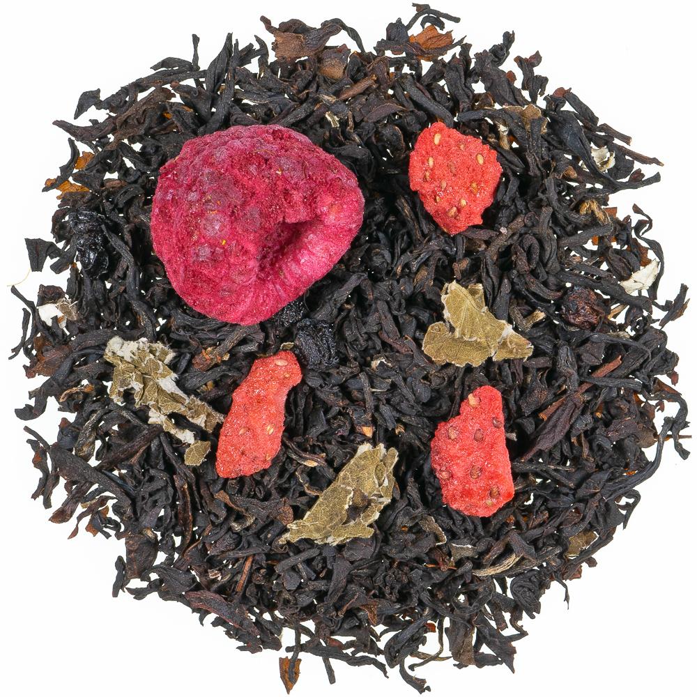 Waldbeere natürlich , Schwarzer Tee