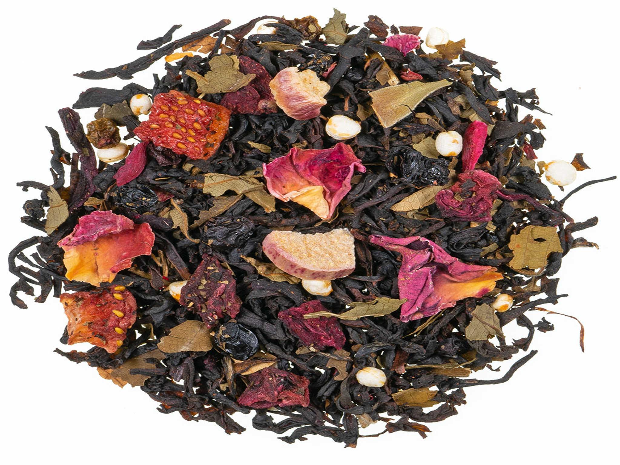 Erdbeer Rhabarber Schwarzer Tee
