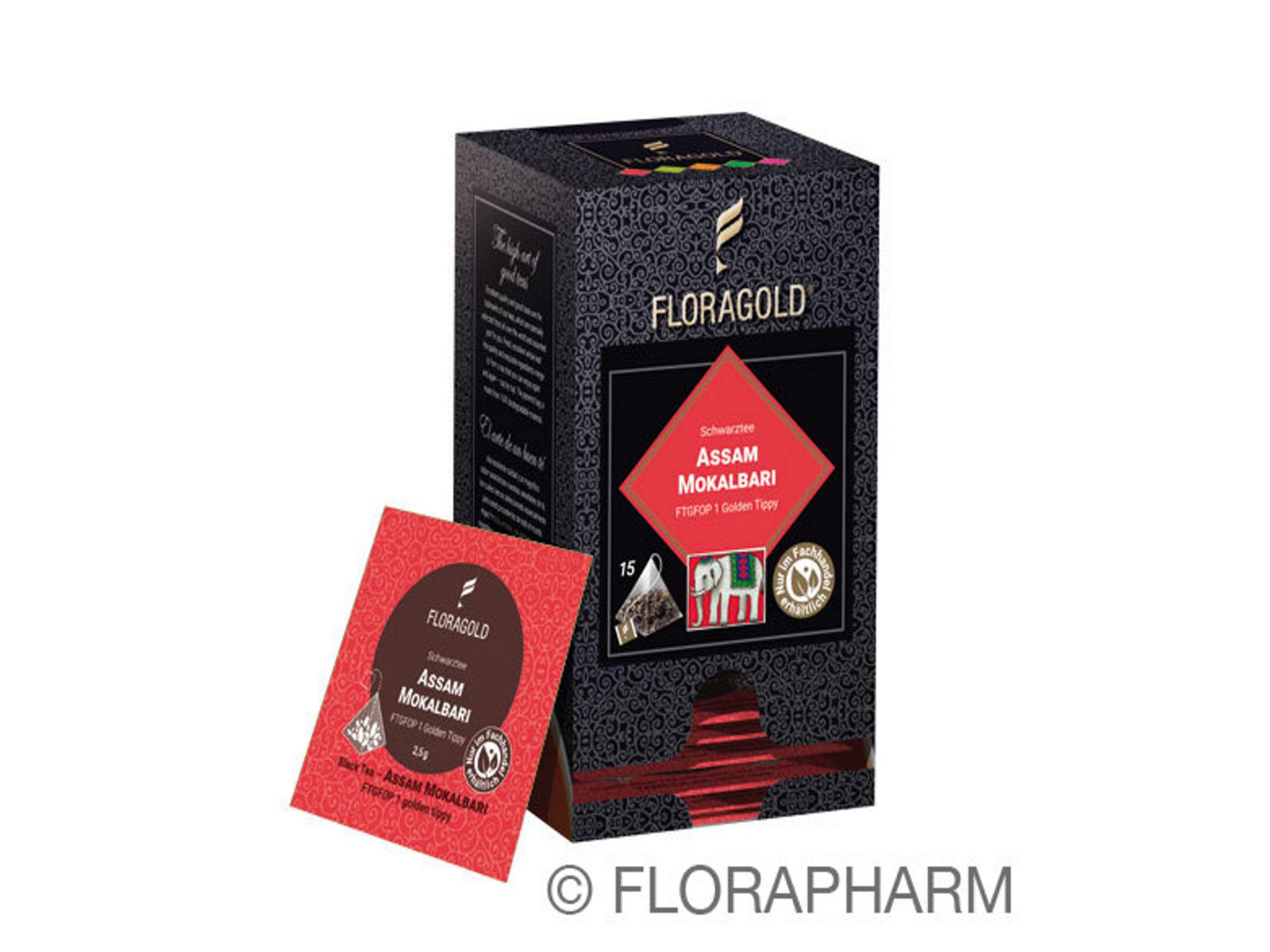 Tee-Pyramidenbeutel Assam Mokalbari FTGFOP 1 Golden Tippy Schwarzer Tee