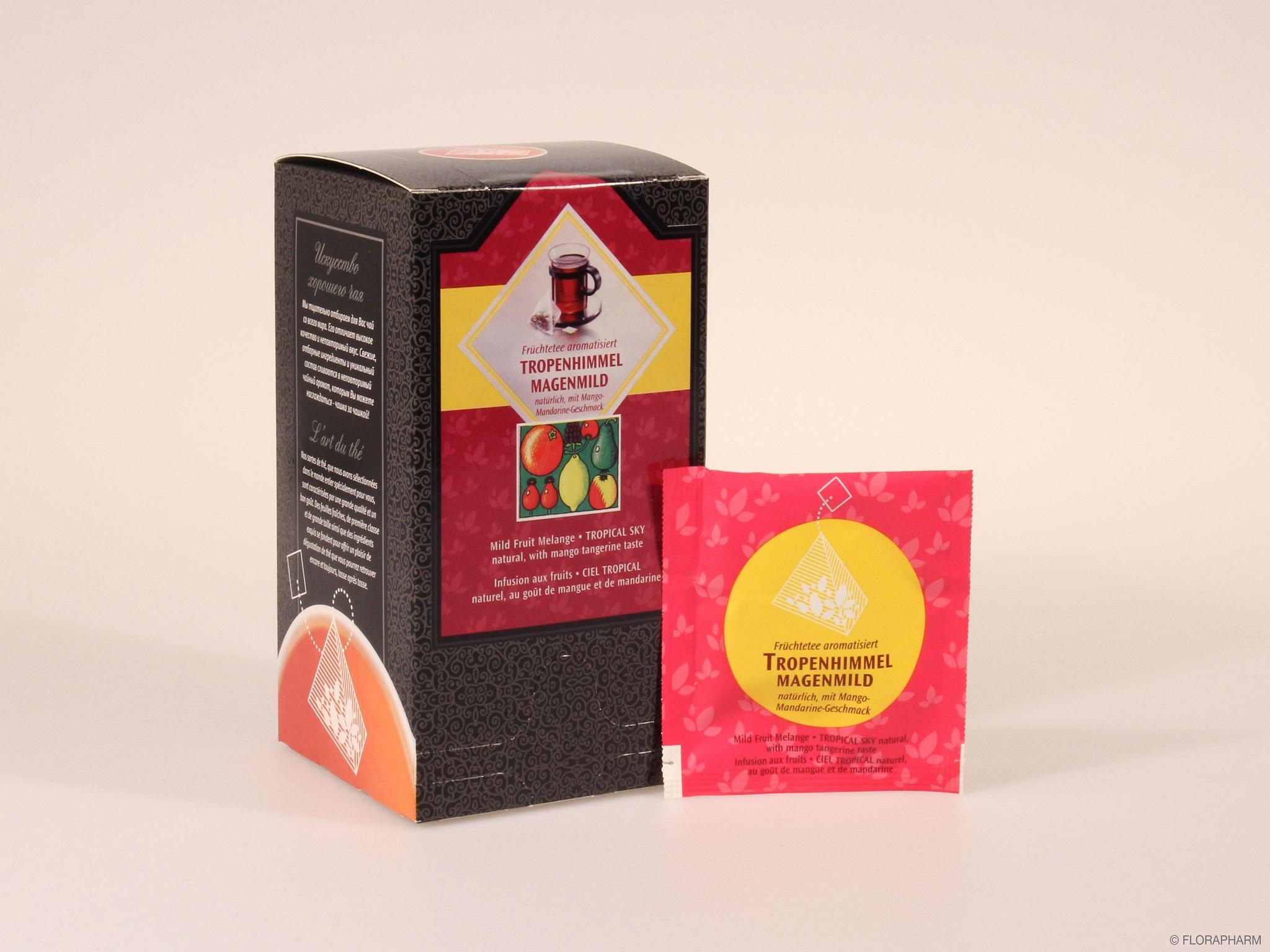 Tee-Pyramidenbeutel  Tropenhimmel® natürlich. Früchtetee mild
