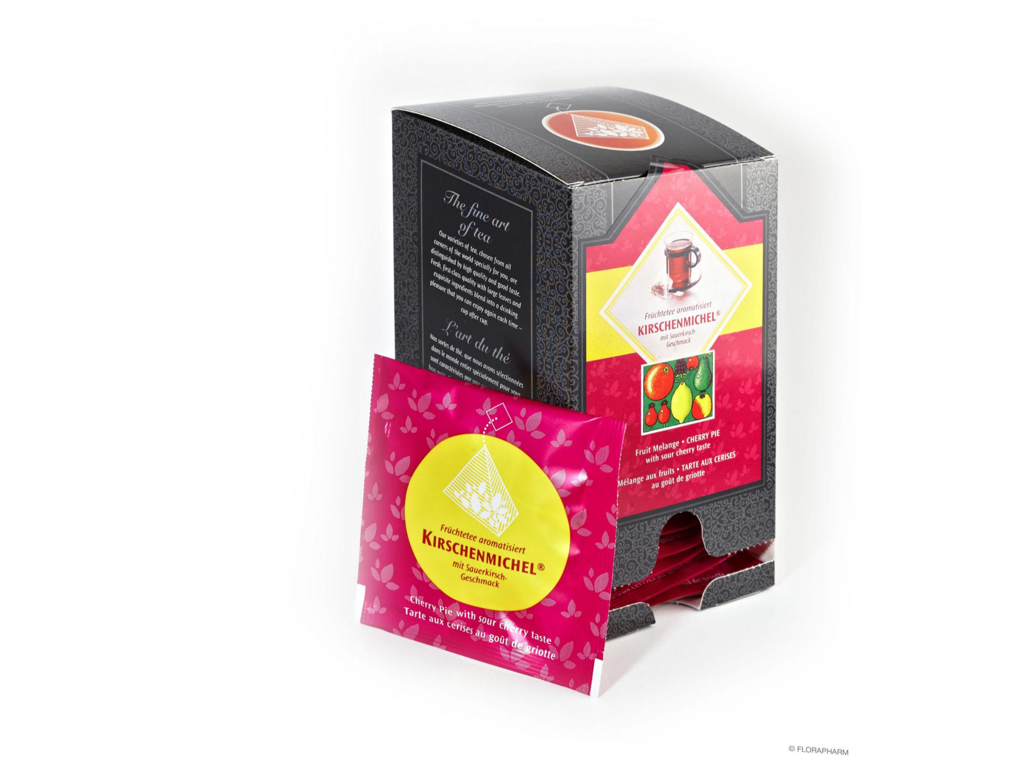 Tee-Pyramidenbeutel Kirschenmichel® Früchtetee